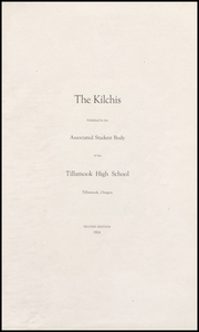 Page 5, 1924 Edition, Tillamook High School - Kilchis Yearbook (Tillamook, OR) online yearbook collection