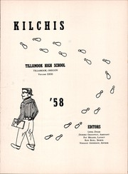 Page 7, 1958 Edition, Tillamook High School - Kilchis Yearbook (Tillamook, OR) online yearbook collection