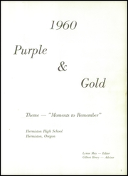 Page 5, 1960 Edition, Hermiston High School - Purple and Gold Yearbook (Hermiston, OR) online yearbook collection