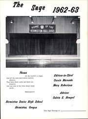 Page 5, 1963 Edition, Hermiston High School - Purple and Gold Yearbook (Hermiston, OR) online yearbook collection