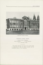 Page 4, 1925 Edition, Lebanon Union High School - Warrior Yearbook (Lebanon, OR) online yearbook collection