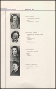 Page 14, 1943 Edition, Lebanon Union High School - Warrior Yearbook (Lebanon, OR) online yearbook collection