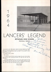 Page 5, 1964 Edition, Reynolds High School - Lancers Legend Yearbook (Troutdale, OR) online yearbook collection