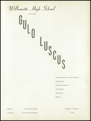 Page 5, 1954 Edition, Willamette High School - Guld Luscus Yearbook (Eugene, OR) online yearbook collection