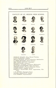 Page 9, 1932 Edition, Saint Helens High School - Lion Yearbook (St Helens, OR) online yearbook collection