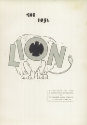Page 5, 1951 Edition, Saint Helens High School - Lion Yearbook (St Helens, OR) online yearbook collection