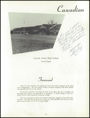 Page 7, 1958 Edition, Cascade Union High School - Cascadian Yearbook (Turner, OR) online yearbook collection