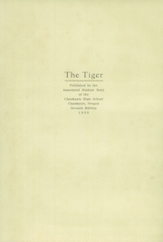 Page 5, 1930 Edition, Clatskanie High School - Tiger Yearbook (Clatskanie, OR) online yearbook collection