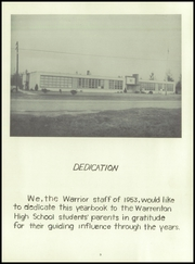 Page 9, 1953 Edition, Warrenton High School - Warrior Yearbook (Warrenton, OR) online yearbook collection