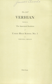 Page 3, 1927 Edition, Vernonia High School - Memolog Yearbook (Vernonia, OR) online yearbook collection