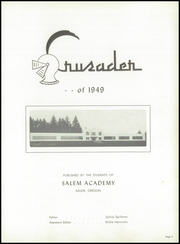 Page 7, 1949 Edition, Salem Academy - Crusader Yearbook (Salem, OR) online yearbook collection