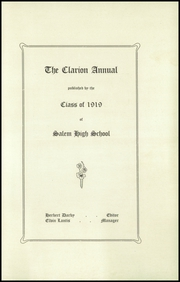 Page 5, 1919 Edition, Salem High School - Clarion Annual Yearbook (Salem, OR) online yearbook collection