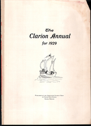 Page 3, 1929 Edition, Salem High School - Clarion Annual Yearbook (Salem, OR) online yearbook collection