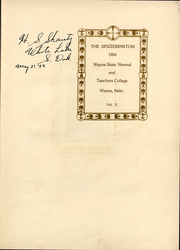 Page 3, 1924 Edition, Wayne State College - Spizz Yearbook (Wayne, NE) online yearbook collection