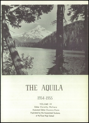 Page 5, 1955 Edition, WyEast High School - Aquila Yearbook (Hood River, OR) online yearbook collection