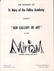 Page 5, 1960 Edition, St Mary of the Valley Academy - Miriam Yearbook (Beaverton, OR) online yearbook collection