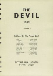 Page 5, 1952 Edition, Dayville High School - Devil Yearbook (Dayville, OR) online yearbook collection
