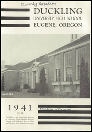 Page 5, 1941 Edition, University High School - Duckling Yearbook (Eugene, OR) online yearbook collection