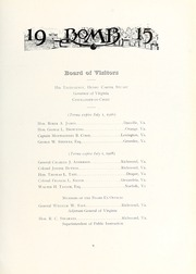 Page 17, 1915 Edition, Virginia Military Institute - Bomb Yearbook (Lexington, VA) online yearbook collection