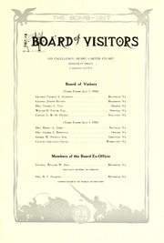 Page 17, 1917 Edition, Virginia Military Institute - Bomb Yearbook (Lexington, VA) online yearbook collection