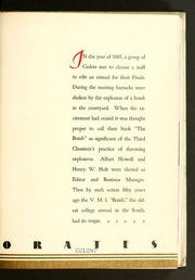Page 11, 1935 Edition, Virginia Military Institute - Bomb Yearbook (Lexington, VA) online yearbook collection