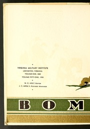 Page 8, 1935 Edition, Virginia Military Institute - Bomb Yearbook (Lexington, VA) online yearbook collection