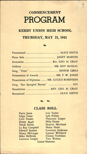 Page 3, 1942 Edition, Kerby Union High School - Trail Blazer Yearbook (Kerby, OR) online yearbook collection