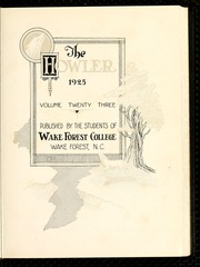 Page 7, 1925 Edition, Wake Forest University - Howler Yearbook (Winston Salem, NC) online yearbook collection