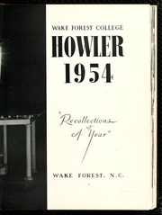 Page 7, 1954 Edition, Wake Forest University - Howler Yearbook (Winston Salem, NC) online yearbook collection