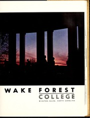 Page 7, 1962 Edition, Wake Forest University - Howler Yearbook (Winston Salem, NC) online yearbook collection
