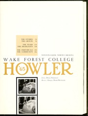 Page 5, 1965 Edition, Wake Forest University - Howler Yearbook (Winston Salem, NC) online yearbook collection