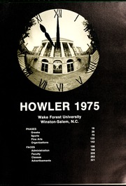 Page 5, 1975 Edition, Wake Forest University - Howler Yearbook (Winston Salem, NC) online yearbook collection