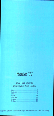 Page 7, 1977 Edition, Wake Forest University - Howler Yearbook (Winston Salem, NC) online yearbook collection