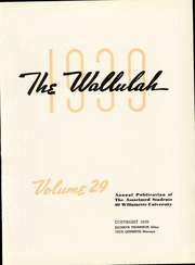 Page 7, 1939 Edition, Willamette University - Wallulah Yearbook (Salem, OR) online yearbook collection