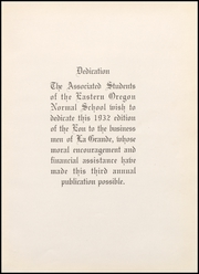 Page 11, 1932 Edition, Eastern Oregon University - Mountaineer Yearbook (La Grande, OR) online yearbook collection