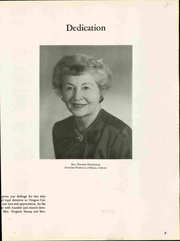 Page 9, 1962 Edition, Western Oregon University - Yearbook (Monmouth, OR) online yearbook collection