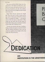 Page 10, 1957 Edition, Warner Pacific College - Beacon Yearbook (Portland, OR) online yearbook collection