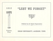 Page 5, 1912 Edition, Union University - Lest We Forget Yearbook (Jackson, TN) online yearbook collection