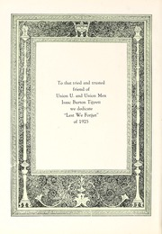 Page 8, 1925 Edition, Union University - Lest We Forget Yearbook (Jackson, TN) online yearbook collection