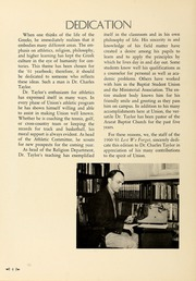 Page 8, 1961 Edition, Union University - Lest We Forget Yearbook (Jackson, TN) online yearbook collection