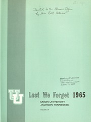 Page 3, 1965 Edition, Union University - Lest We Forget Yearbook (Jackson, TN) online yearbook collection