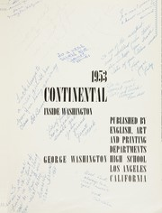 Page 5, 1953 Edition, George Washington High School - Continental Yearbook (Los Angeles, CA) online yearbook collection
