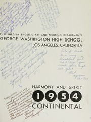 Page 5, 1954 Edition, George Washington High School - Continental Yearbook (Los Angeles, CA) online yearbook collection