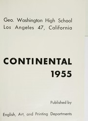 Page 5, 1955 Edition, George Washington High School - Continental Yearbook (Los Angeles, CA) online yearbook collection