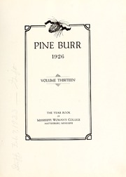 Page 7, 1926 Edition, William Carey College - Crusader / Pine Burr Yearbook (Hattiesburg, MS) online yearbook collection