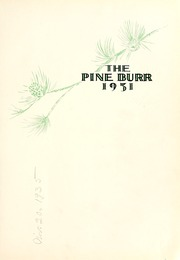 Page 3, 1931 Edition, William Carey College - Crusader / Pine Burr Yearbook (Hattiesburg, MS) online yearbook collection