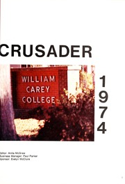 Page 5, 1974 Edition, William Carey College - Crusader / Pine Burr Yearbook (Hattiesburg, MS) online yearbook collection