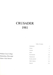 Page 5, 1981 Edition, William Carey College - Crusader / Pine Burr Yearbook (Hattiesburg, MS) online yearbook collection