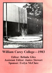 Page 5, 1983 Edition, William Carey College - Crusader / Pine Burr Yearbook (Hattiesburg, MS) online yearbook collection