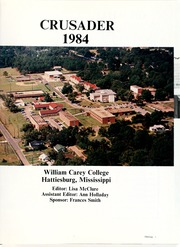 Page 5, 1984 Edition, William Carey College - Crusader / Pine Burr Yearbook (Hattiesburg, MS) online yearbook collection